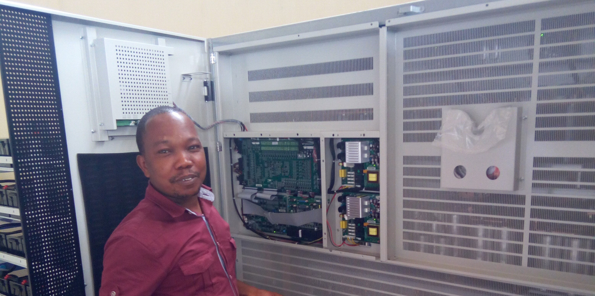 Installation of 400KVA UPS at one of Ghana's Educational Printing Press site