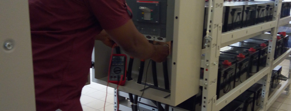 Installation of  UPS batteries at one of Ghana's Educational Printing Press site