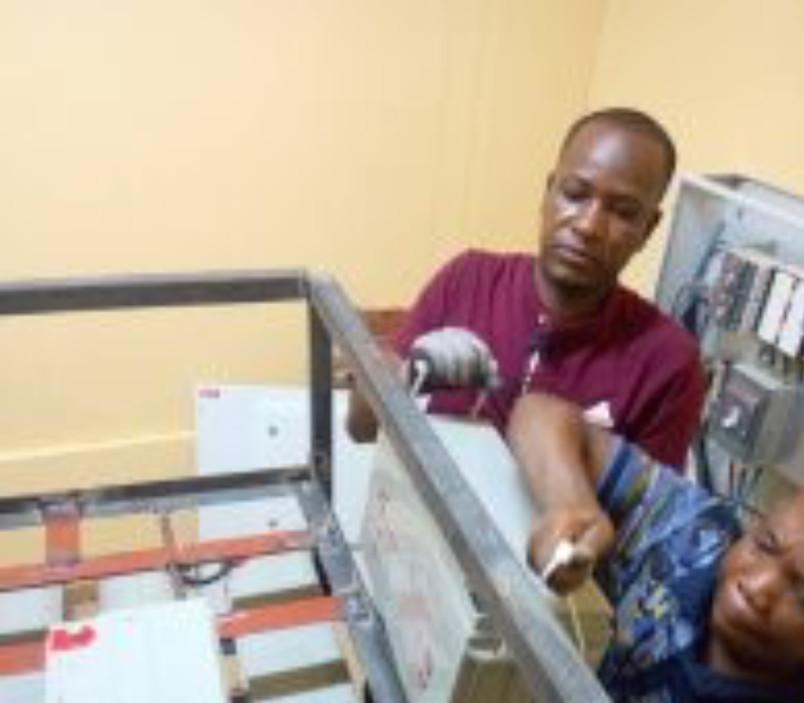 Installation of UPS batteries at UTV & Peace FM transmission site