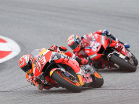 Dovizioso arrebata la victoria a Márquez en última curva del MotoGP de Austria