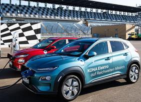 Hyundai KONA Electric establece nuevo récord de alcance