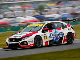 Honda se lleva la vuelta más rápida, top diez en Daytona