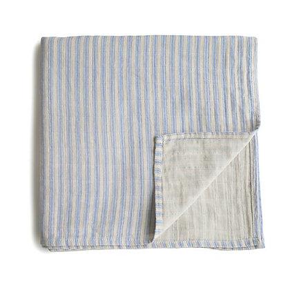 Muslin Swaddle - Blue Stripe