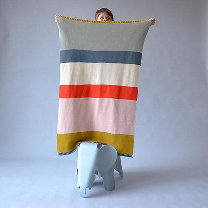 Bright Striped Baby Blanket