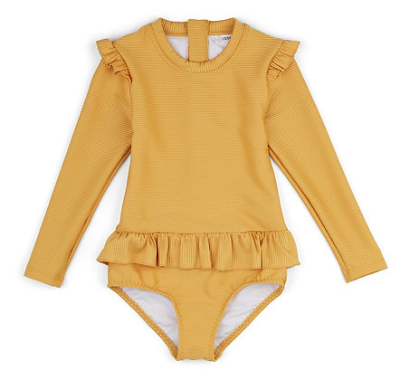 Sille Swim Jumpsuit Structure - Yellow Mellow