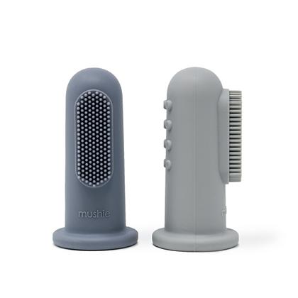 Finger Toothbrush - Stone/Tradewinds