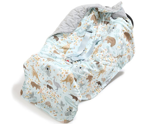 Car Seat Blanket - Dundee & Friends Grey