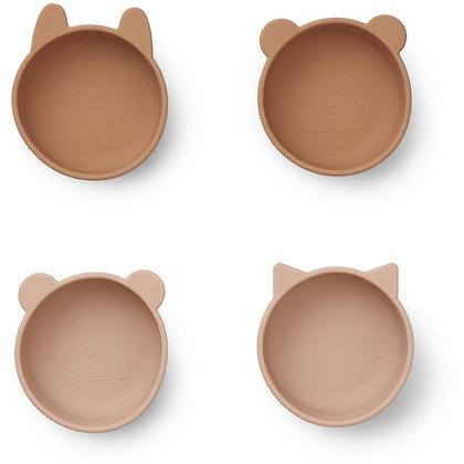 Iggy Silicone Bowls 4 Pack - Tuscany Rose Mix