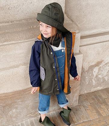 Raincoat - Hunter Green Multi