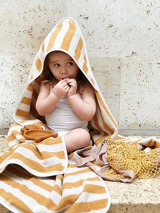 Louie Hooded Towel - Mustard