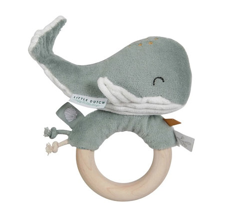 Ring Rattle Whale Ocean Mint
