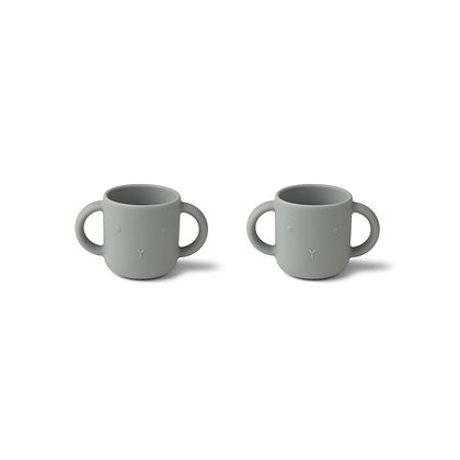 Gene Silicone Cup 2 Pack - Rabbit dove blue