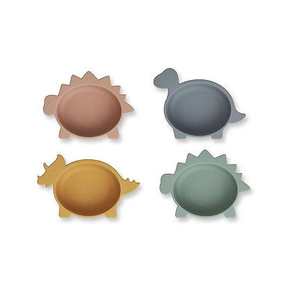Iggy Silicone Bowls 4 Pack - Dino Mix