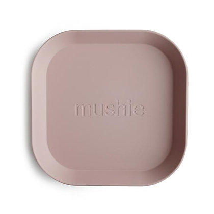 Square Plates Set of 2 - Blush
