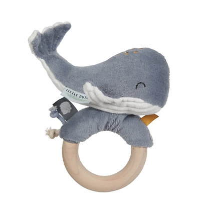 Ring Rattle Whale Ocean Blue