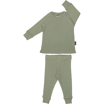 Ribbed Lounge Set - Light Khaki