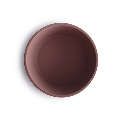 Silicone Suction Bowl - Cloudy Mauve