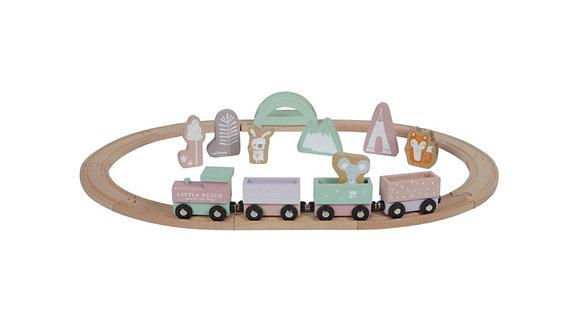 Wooden Train - Adventure Pink
