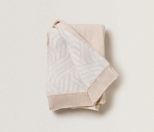 Strada Bianco Cotton Blanket