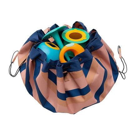 Outdoor Beach Storage Bag Mokka Stripes