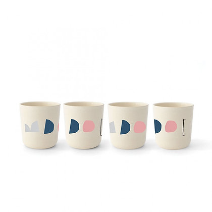 Illustrated Bamboo Medium Cup Set