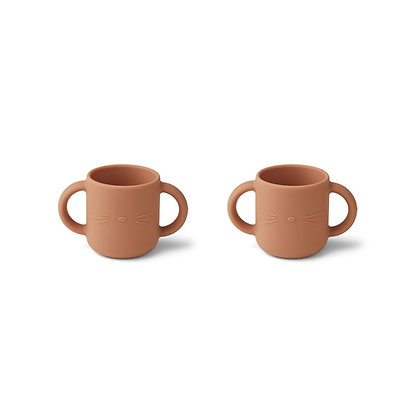 Gene Silicone Cup 2 Pack - Cat tuscany rose
