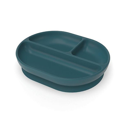 Divided Suction Plate - Blue Abyss