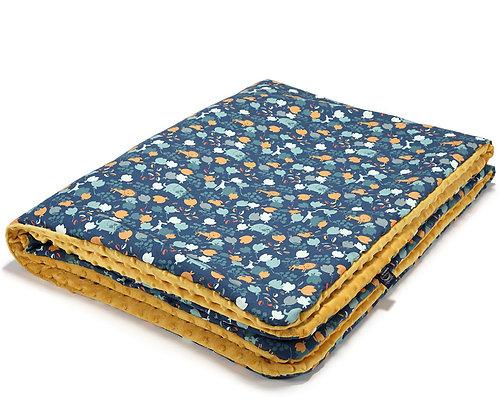 French Blue Jardin Winter Blanket