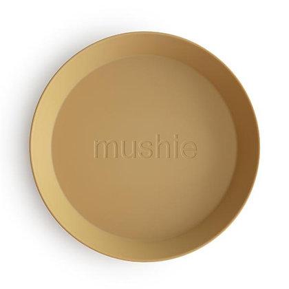 Round Plates Set of 2 - Mustard