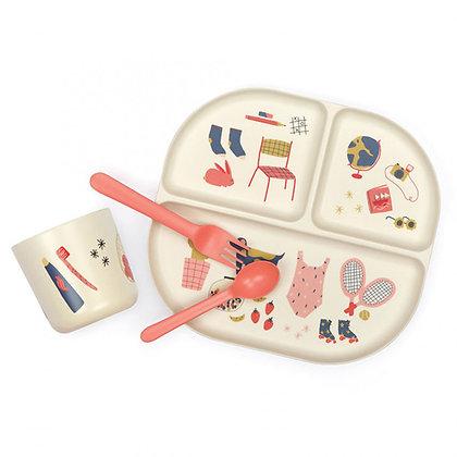 Kids Dinner Set - Illustrated