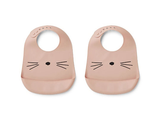 Tilda Silicone Bib 2 Pack - Cat