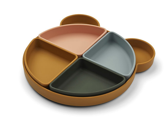 Arne Divider Plate - Mr Bear Caramel Mix