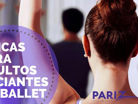 5 dicas para Adultos Iniciantes no Ballet