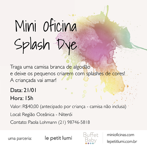 Mini Oficina Splash Dye