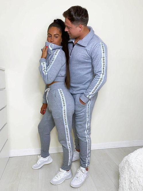 Men's Zipper SAINT Tracksuit in Grey