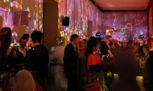 - Superfly Birthday Night - Statische Raumprojektion - Ottakringer Brauerei / GoldfasslMagazin.   Konzept, Produktion und ProjektionsTechnik -  MODULUX (Implementierung/Johannes Menneweger bei Lichttapete)  Agentur: yamyam event production KG
