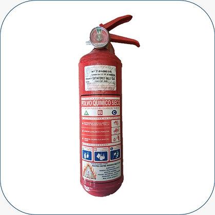 Extintor PQS 01 kg al 75% F.M.