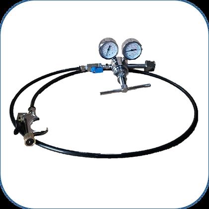 Regulador de Nitrógeno C/Pistola de Presurización