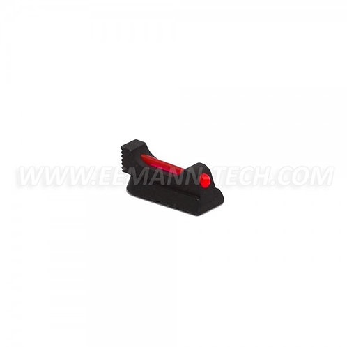 EEMANN TECH FRONT SIGHT FOR CZ 75, CZ SHADOW 2, CHECKERED, WITH 1MM FIBER OPTIC