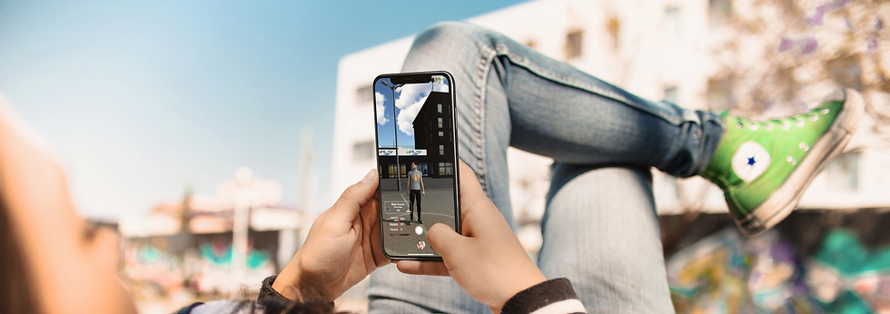 mockup-of-a-girl-using-an-iphone-x-while