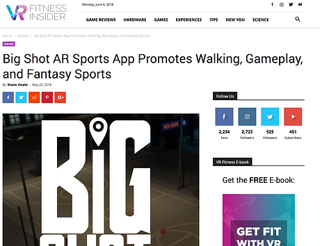 Big Shot in VR Fitness Insider