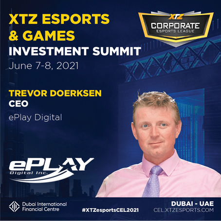 ePlay CEO to Present at INVEST IN THE GAMES & ESPORTS SUMMIT