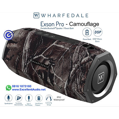 Portable speaker Wharfedale Exson Pro Camouflage power bank Bluetooth speaker