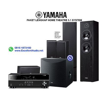 Paket Yamaha HTR 2071 NS SW100 NS F51 NS P51 home theatre system 5.1 channel