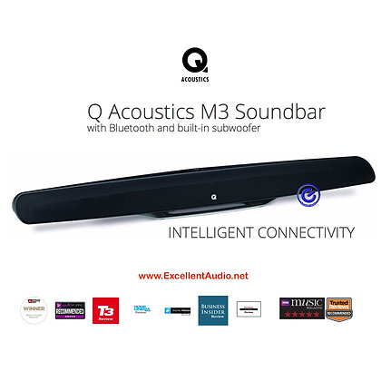 Q Acoustic M3 wireless soundbar with built in subwoofer