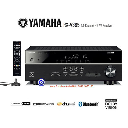Yamaha RXV385 home theatre multichannel amplifier DTS Dolby