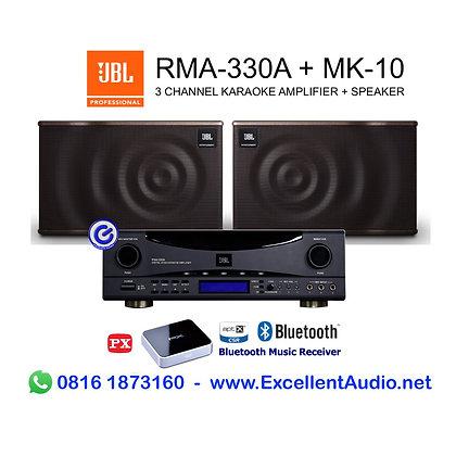 Paket JBL RMA 330 RMA330 MK10 MK 10 bluetooth karaoke system