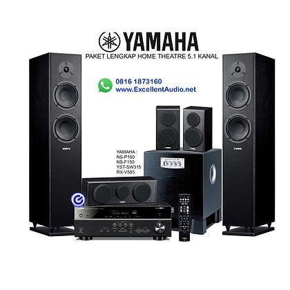Paket Yamaha RXV 585 NSP150 NSF 150 YST SW315 home theatre 5.1 kanal