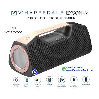 Wharfedale Exson M bluetooth speaker portable power bank LED light