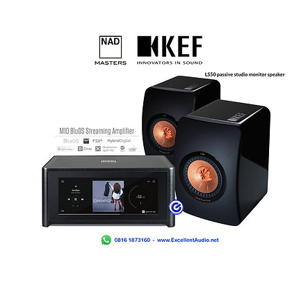 Paket NAD M10 KEF LS50 bluetooth streamer amplifier stereo system